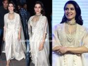 samantha akkineni in white dress at majili pre release event