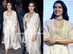 samantha akkineni in white dress at majili pre release event