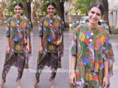 samantha dress at majili success meet
