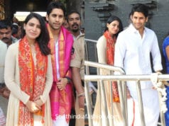 samantha and naga chaitanya at tirumala