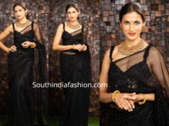 SHILPA REDDY IN A BLACK ORGANZA SAREE