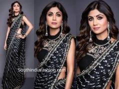 shilpa shetty in black saree super dancer
