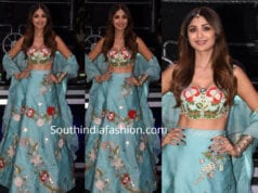 shilpa shetty blue lehenga super dancer