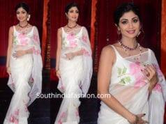 shilpa shetty in white saree super dancer 3