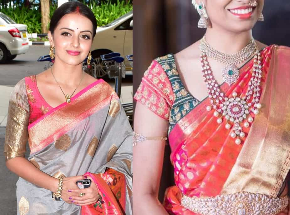 silk saree blouse designs 2019