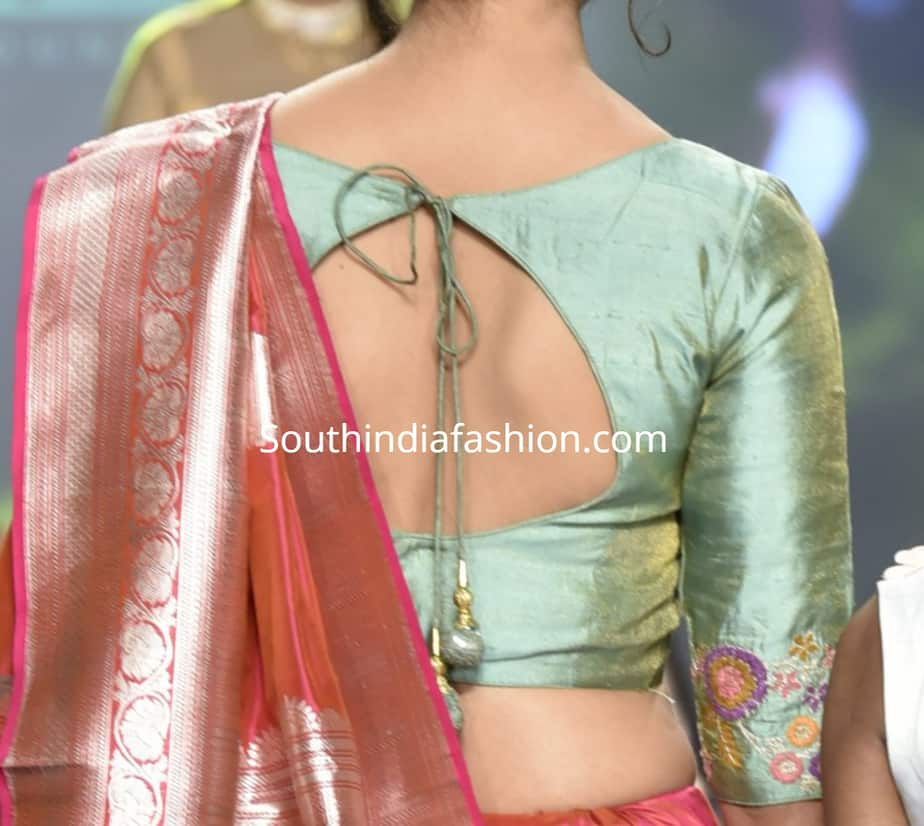 silk saree blouse design 2019