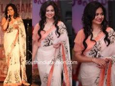 singer sunitha printed saree 2019