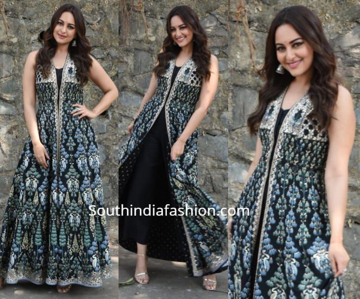 sonakshi sinha black dress kalank promotions