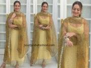 sonakshi sinha yellow salwar kameez kalank promotions