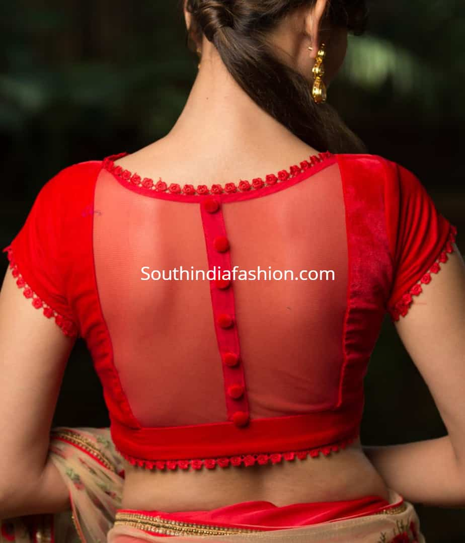 transparent blouse for chiffon sarees
