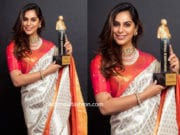 upasana kamineni silk saree at dadashaeb phalke awards