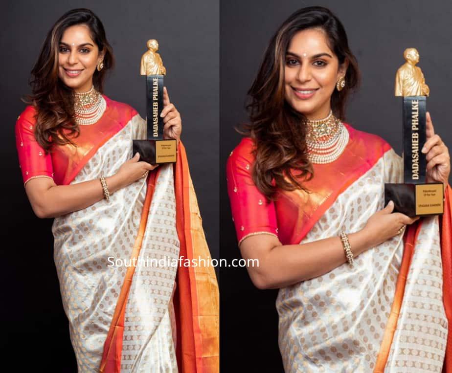upasana kamineni silk saree at dadashaeb phalke awards
