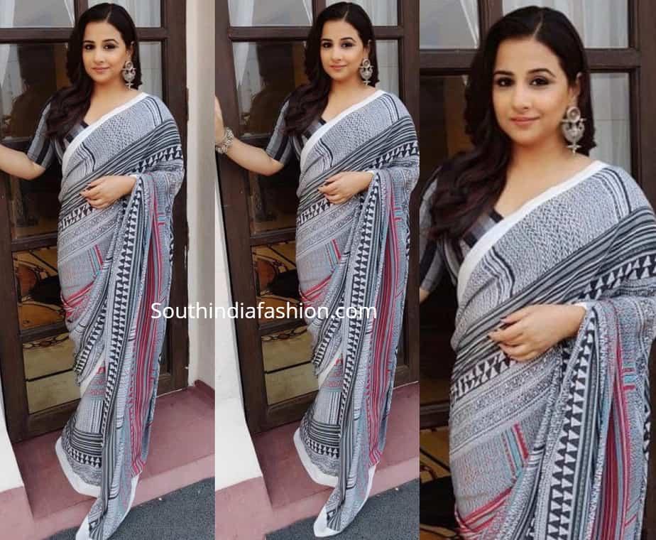 vidya balan masaba printed saree