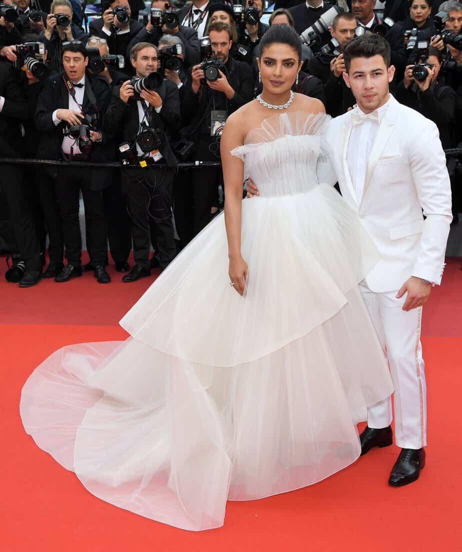 priyanka chopra in white gown at cannes 2019