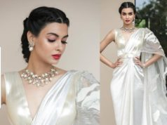 diana penty white gown at cannes 2019