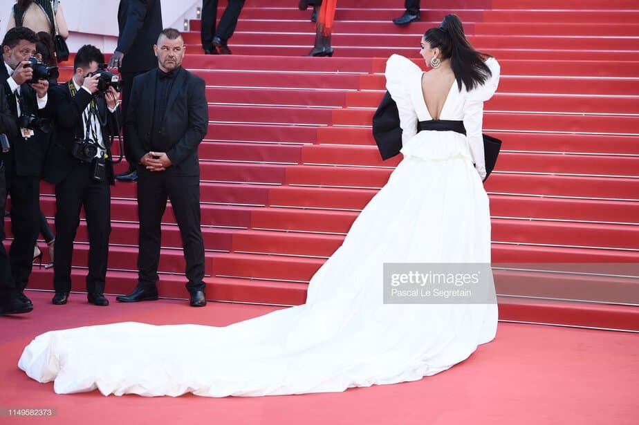 deepika padukone white gown at cannes 2019