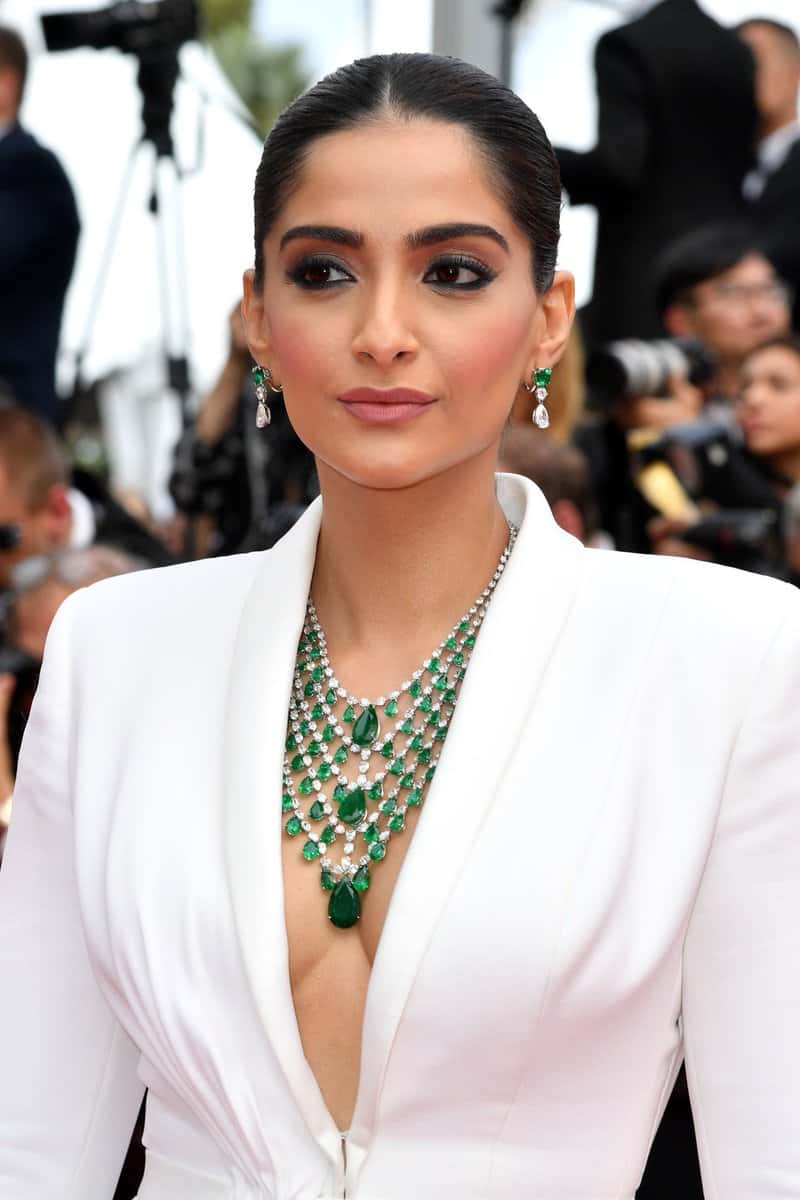 sonam kapoor in white tusedo at cannes 2019