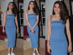 KAJAL AGGARWAL DENIM DRESS