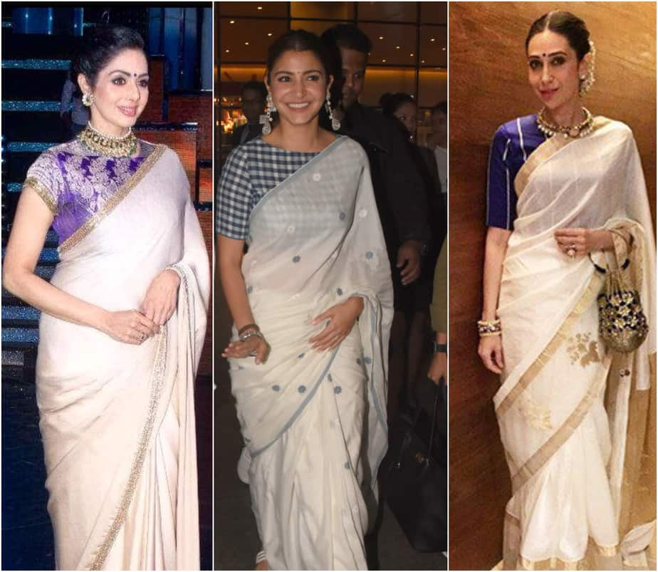 Off-White Sarees That You can Style in Simple Ways