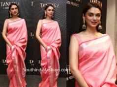 aditi rao hydari silk saree-taneira-store launch
