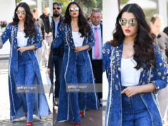 aishwarya rai bachchan denim jacket cannes 2019