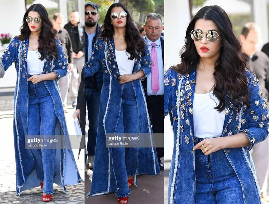 aishwarya rai bachchan denim jacket cannes 2019