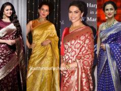 celebrities in banarasi silk sarees