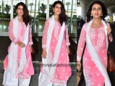 fatima sdana shaikh pink and white chikankari salwar kameez