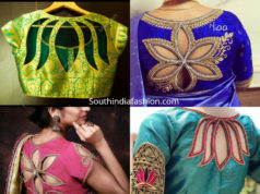 floral cut out blouse designs