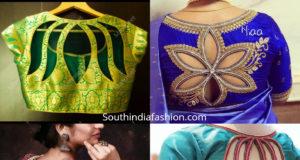 floral cut out blouse designs