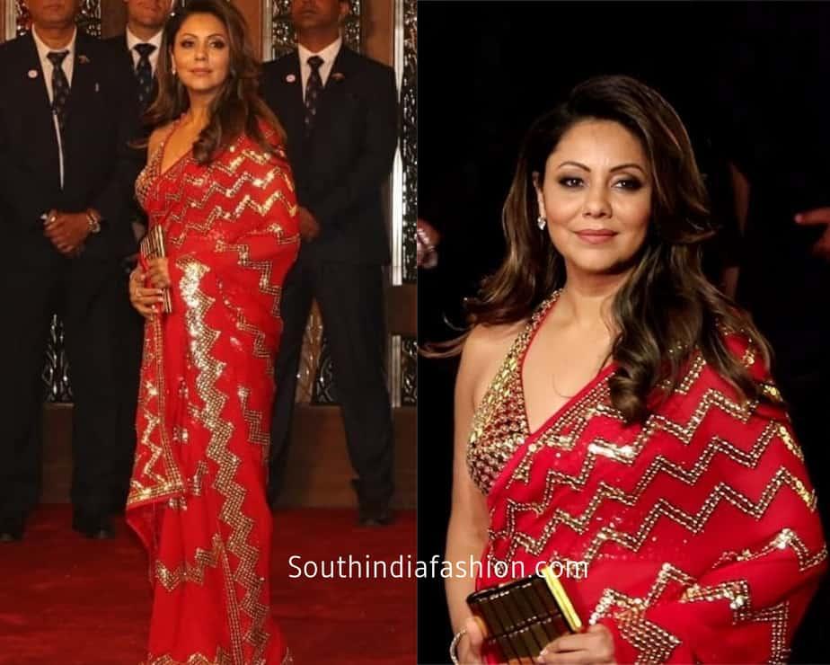 gouri khan in designer saree