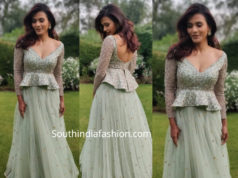 hebah patel in ashwini reddy skirt peplum top