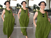 kangana airport green maxi dress