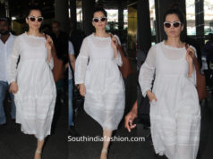kangana airport white dress