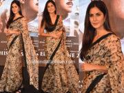 katrina kaif floral saree bharat song launch