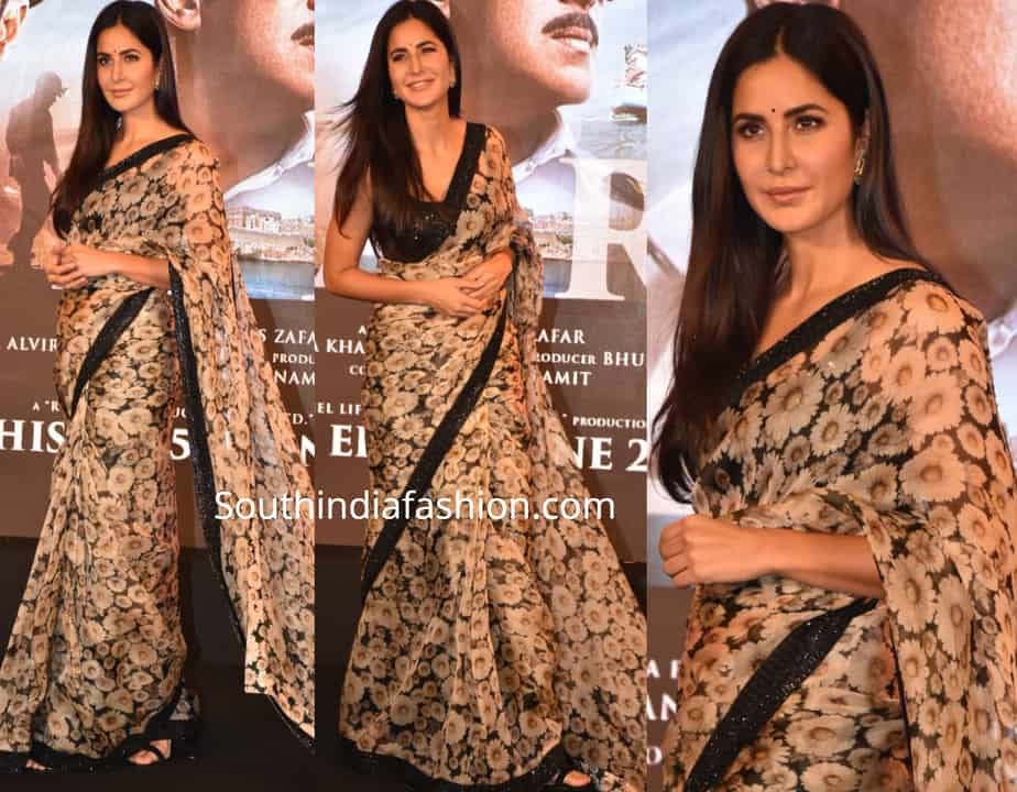 katrina kaif floral saree bharat song launch