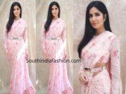 katrina kaif pink floral saree by sabyasachi