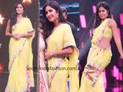 katrina kaif yellow saree bharat promotions