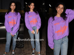 khushi kapoor casual no makeup look