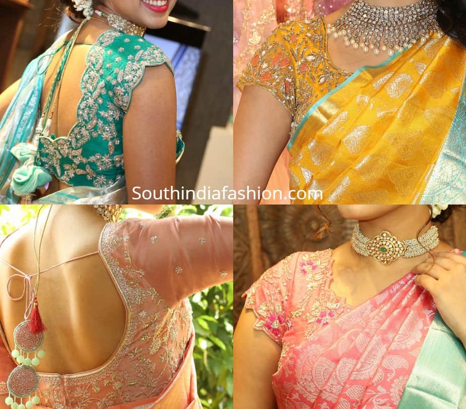 silk saree blouse designs 2019
