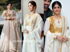 megha akash white gold anarkali