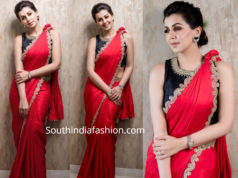 nikki galrani red saree