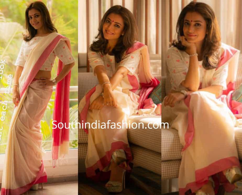 nisha aggarwal white saree