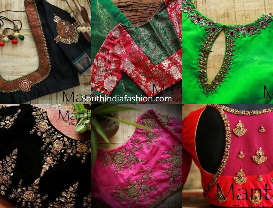 pattu saree blouse designs maggam work 2019