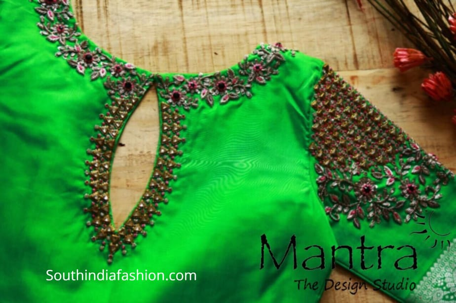 pattu saree blouse designs maggam work 2019