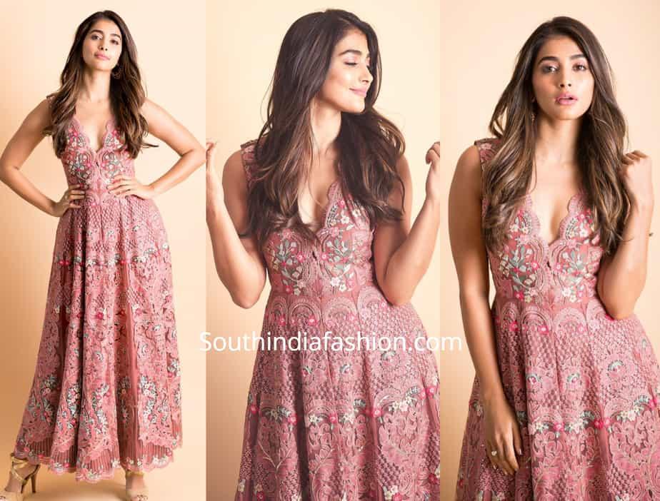 pooja hegde dress maharshi promotions