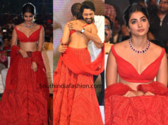 pooja hegde red lehenga maharshi success meet