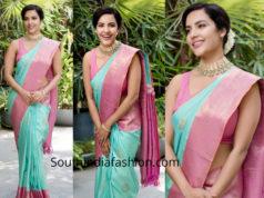 priya anand kanjeevaram silk saree