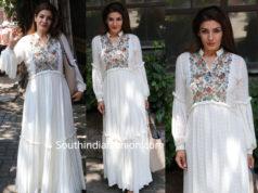 raveena tandon white maxi dress