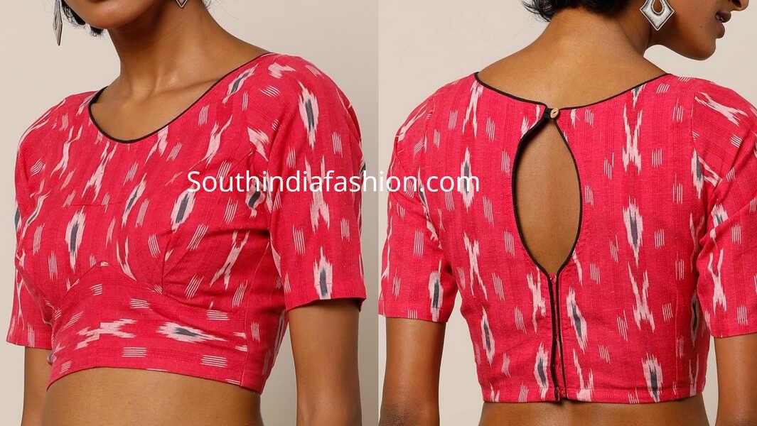 ikat blouse designs 2